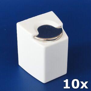 10-x-Euro-Muenzbox-Muenzen-Muenz-Box-Halter-selbstklebend-HR-RICHTER-white