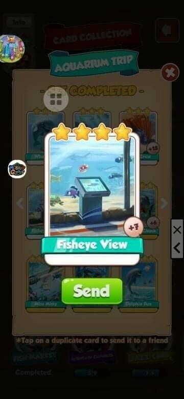 Coin Master Cards Fisheye View Aquarium Set 5X