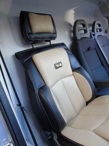 I Lkw Sitzbezug YS01 Creme//Schwarz Semi Passend für VW Transporter T4 2002