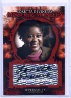 LORETTA DEVINE as MOSELEY 2008 Inkworks SUPERNATURAL #A-9 Autograph AUTO CARD