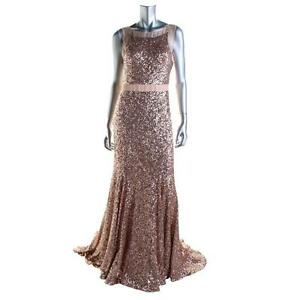 BADGLEY-MISCHKA-AUTENTIC-NEW-Womens-Pink-Sequined-Prom-Evening-Dress-Gown-12