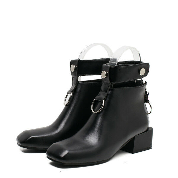 Bottes bottes bikers noir confortable rangers femme talon 5.5 cm 1695