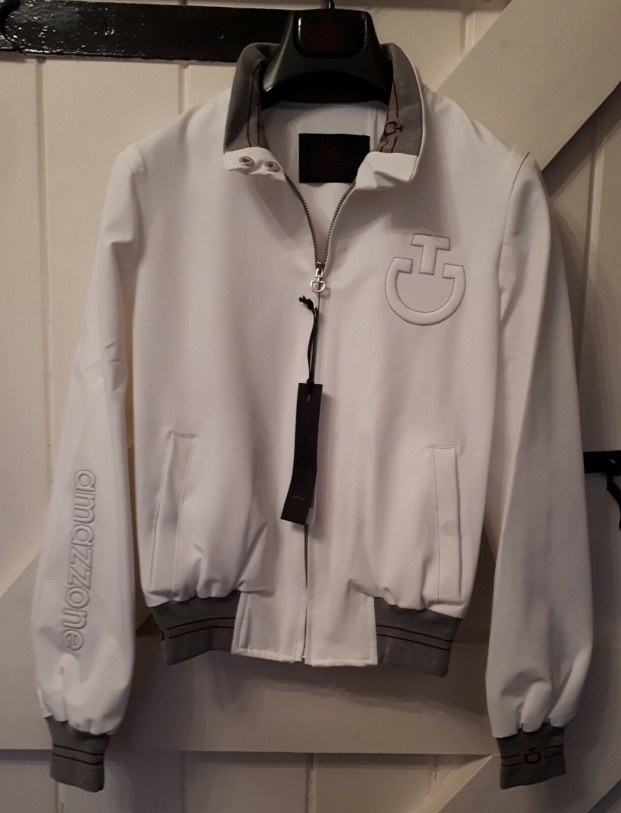 Cavalleria Toscana white womans Bomber- Size extra small. With dust bag