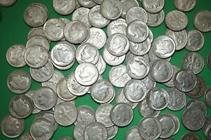 Lot-of-10-ROOSEVELT-DIMES-90-Silver-Coins-Random-1946-64-Shipping-Discount-RD2