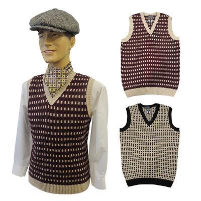 Erfinderisch Mens Vintage Style 1930's 40's Ww2 Wartime Knit Slip Over Tank Top
