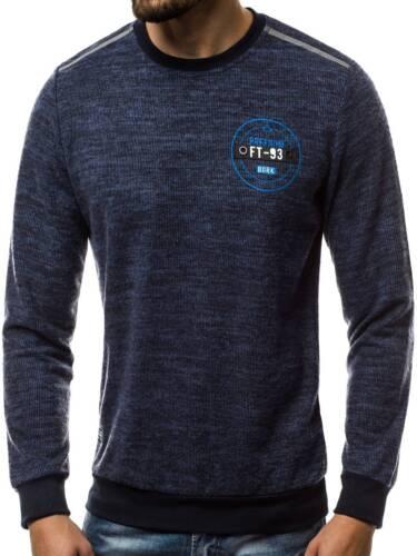 OZONEE Uomo Felpa Pullover Sweatjacke manica lunga Top Maglione Felpe js//hy281