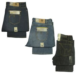 Mens-Kam-Big-King-Sizes-Basic-Straight-Jeans-In-Mid-Blue-Dark-Used-30-to-60