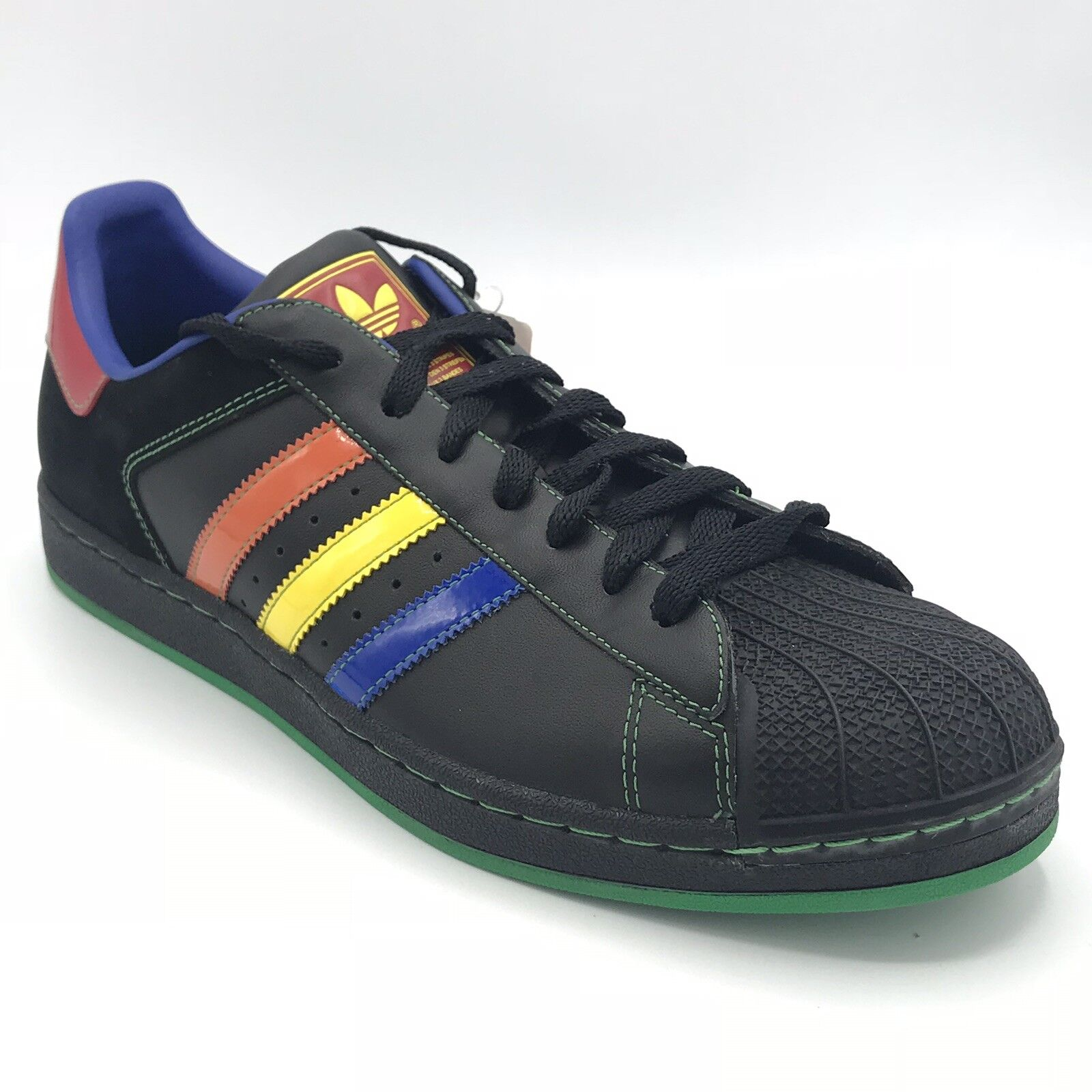 Adidas Superstar Sneakers shoes Black bluee Red orange Yellow Green 045887 US 12