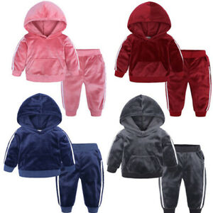 Baby-Kids-Toddler-Boy-Girl-Hoodies-Top-Pants-Outfit-Tracksuit-Hooded-Clothes-Set