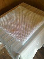 Hand Made Crochet Baby Blanket  30x30 inches Pram Cot  WHITE