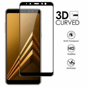 3D-Hartglas-fuer-Samsung-Galaxy-A6-2018-Displayschutz-9H-Schutzpanzer-Glasfolie