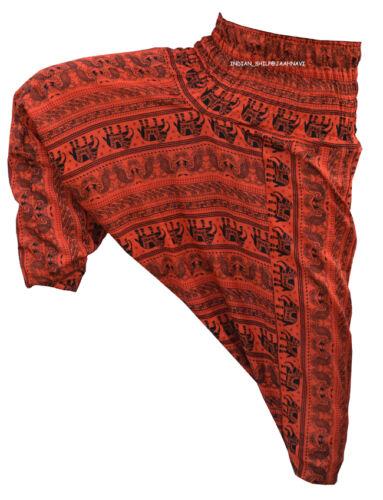 INDIAN BAGGY STYLISH ELEPHANT PRINT TROUSERSGYPSY HAREM PANTS YOGA MEN WOMEN