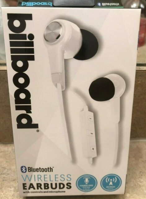 Bluetooth Wireless Earbuds Billboard Model Bb498 White for Smart Phone &  Tablet