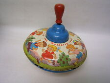 "Vintage Ohio Art Tin Litho Spinning Top ""Here We Go Round the Mulberry Bush"""