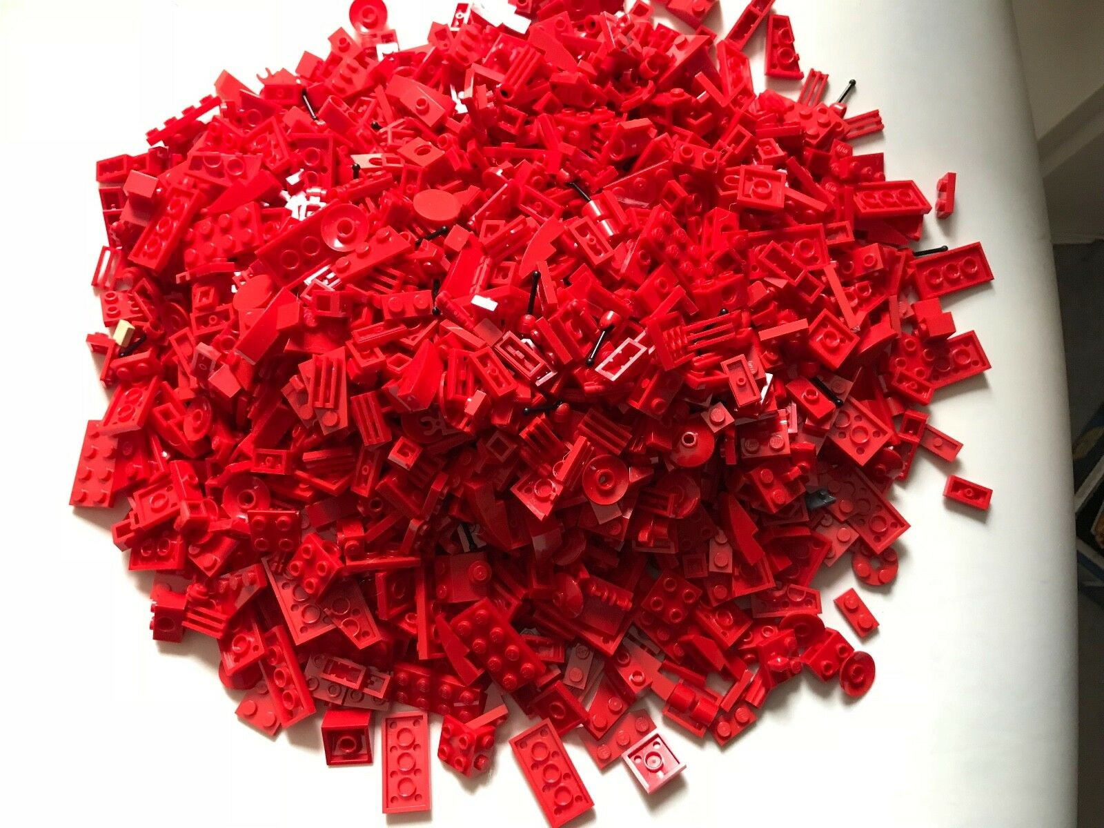 880g LEGO parts - RED lot - MODIFIED SMALL PARTS - KEY PARTS FOR FINISH rare