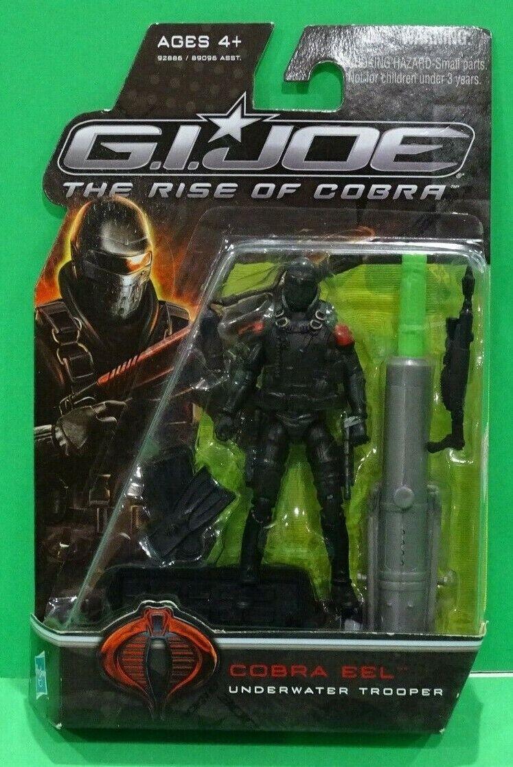 "2009 GI Joe Rise of Cobra Comme neuf on Card 4/"" Cobra Eel UNDERWATER TROOPER figure Hasbro"