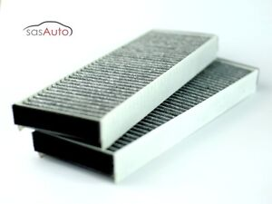 Beau Image Is Loading 2 X Carbon Cabin Air Filter For Audi