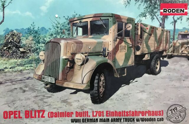 1/72 WW2 Vehicle : Opel Blitz Truck L701 Einheitstahrerhaus [Germany]  : Roden