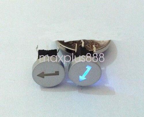 5pcs 6*6mm Blue Led Dia 10mm Cap ENTER 12V Momentary Tact Push Button Switch