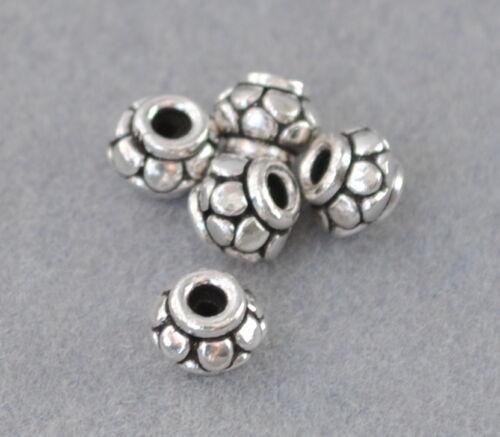 spacer perlas DIY vintage joyas Charms 925 plata entre piezas bastones
