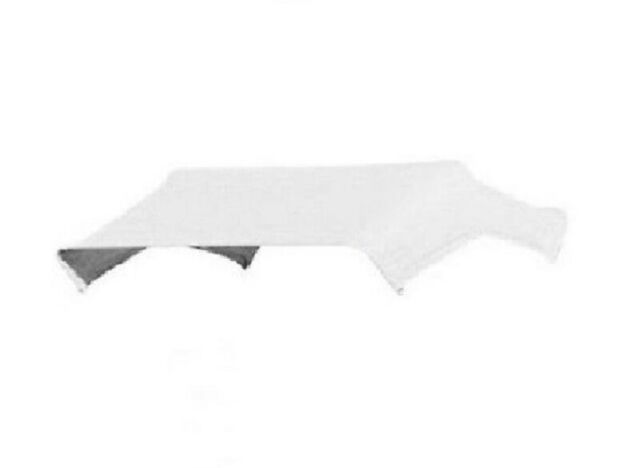 """White Buggy Top Replacement Canvas Cover Only For 3 Bow 48"""" Umbrella Frame JBT3"""