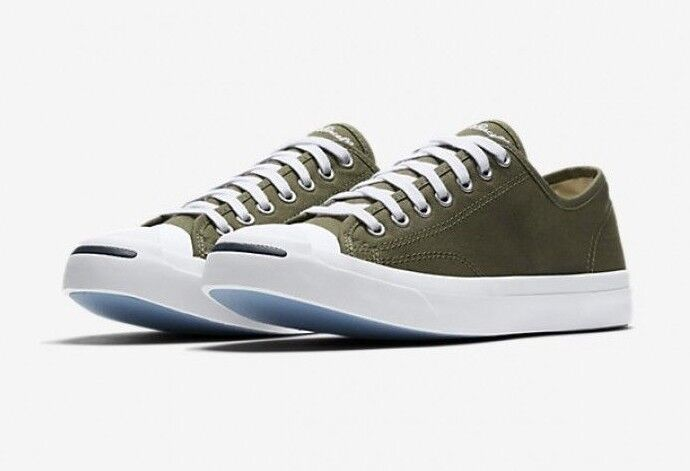 Converse Jack Purcell OX  Medium Olive Core Canvas Low Top Sneaker 157785C