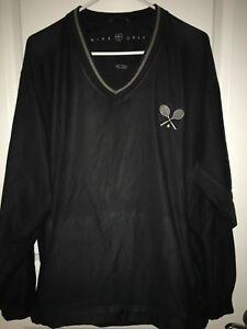 456abe4f5762 Nike Golf Tennis Windbreaker Pullover V Neck Wind Shirt Black Large ...