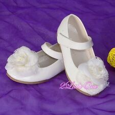 Rose Mary Janes Shoes Toddler US Size 6.5-13 EU 22.5-30 Flower Girl Party GS012