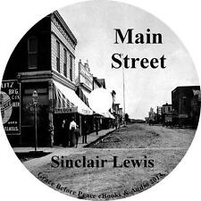 Main Street, Sinclair Lewis Audiobook unabridged fiction English on 1 MP3 CD