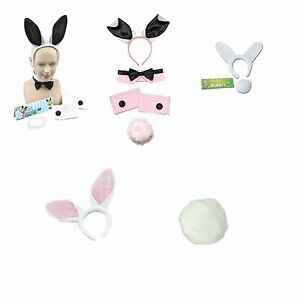BUNNY-SET-AND-ACCESSORIES-RABBIT-EARS-TAIL-CUFFS-FANCY-DRESS-COSTUME-HEN-PARTY