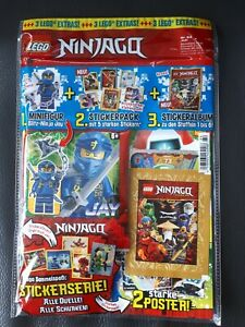 64 mit Jay und Stickeralbum Magazin Nr LEGO Ninjago