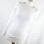 New-Look-Womens-Size-14-White-Plain-Cotton-Blend-Basic-Tee thumbnail 1