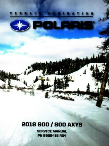 Polaris 2018 Axys 600 800 Snowmobile service manual in 3-ring ...