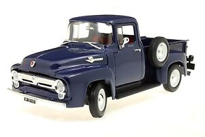 Welly 1:18 1956 Ford F-100 Pick Up Bleu Foncé 19831w 19831