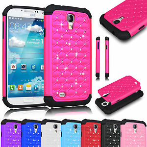 Hybrid-Rugged-Rubber-Bling-Crystal-Case-Cover-for-SAMSUNG-GALAXY-S-IV-S4-i9500