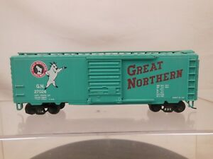 HO-SCALE-40-039-STEEL-BOX-CAR-GREAT-NORTHERN-27024