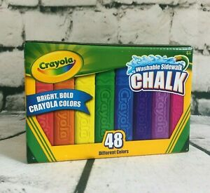 crayola 48 assorted bright color washable sidewalk anti