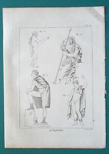 GREEK-DRESS-Male-Cloak-Pallium-Chlamys-1804-Antique-Print