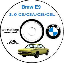 Workshop Manual,Bmw 3.0 CSI,Bmw 3.0 CSL,Bmw 2.8 CS Catalogo,Manuale Officina