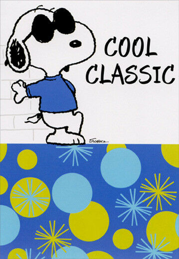 Snoopy Cool Classic Peanuts Hallmark Birthday Card For Sale Online