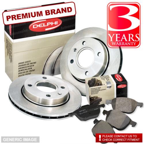 Brake Discs Full Axle Set 291mm Vented Fits Jaguar XJ Front Delphi Brake Pads