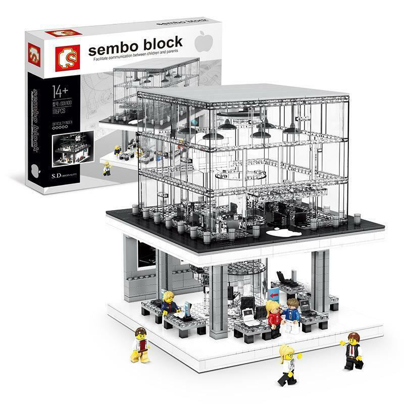 Sembo SD6900 Apple Store iluminado bloque de construcción Set 1116 piezas
