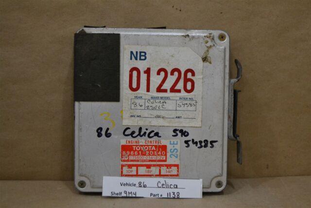 1986 Toyota Celica Engine Computer Unit Ecu 8966120140