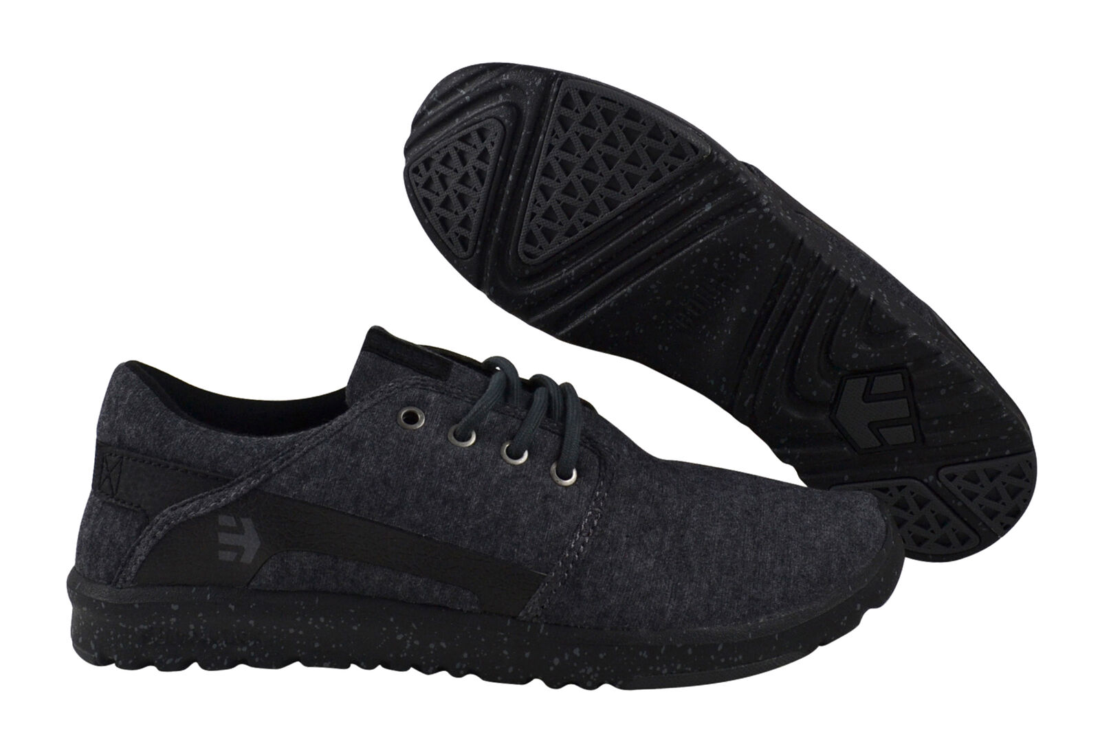 Turnschuhe Silber schwarz Scout Etnies Schuhe grau schwarz