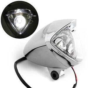 """3-3//4/"""" Triangle Bullet Headlight Fog Light For Custom Chopper Bobber B2"""