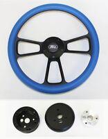 Bronco F100 F150 F250 F350 Steering Wheel 14 Sky Blue On Black Ford Center