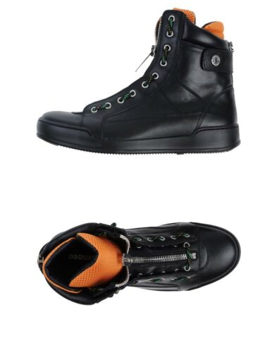 850 Dsquared2 Designer Leather ZipRazor Shoes High Tops Main in Italy