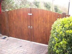 Driveway Entrance Arch Wooden Garden Arched Gates Ebay
