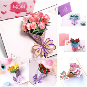 Romantic-3D-Popup-Greeting-Cards-Carousel-Happy-Birthday-Mother-s-day-Thank-Gift