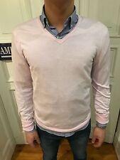 H&M Strick Pullover Sweatshirt Pulli Gr. M rosa 100% Baumwolle wie NEU